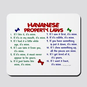 Havanese Property Laws 2 Mousepad